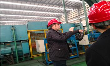 Turkish Customer Visit Moran Company's Cold Rolling Mill